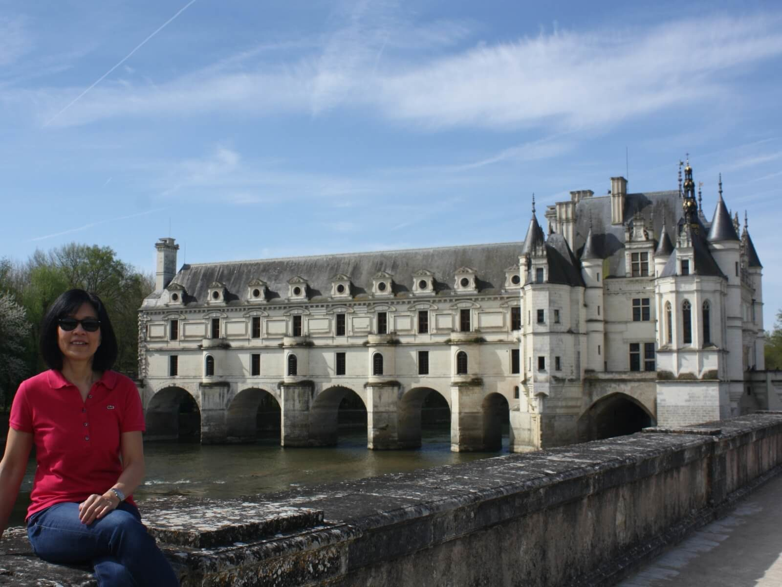 Janice in front of Chenonceau: Loire Valley Castles You Shouldn't Skip