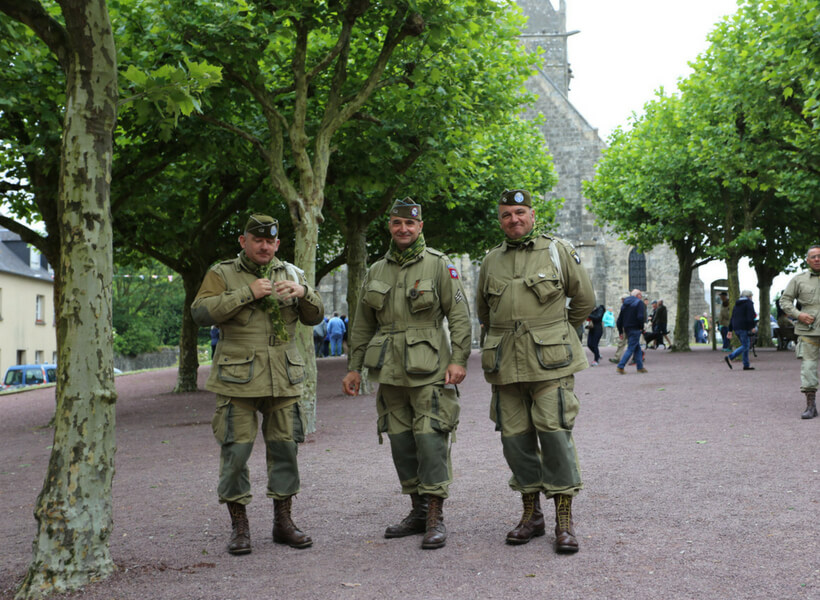 3 French men that participate in Operation Overlord reenactment