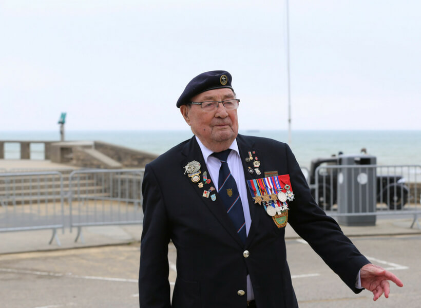 veteran visiting Arromanches-sur-Mer for D-Day 2018