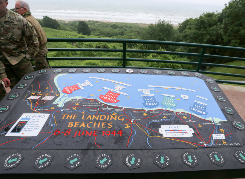 The geography of D-Day landing beaches