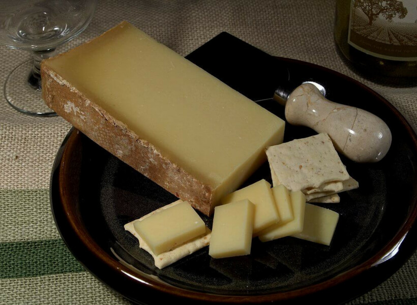 Beaufort cheese on a plate