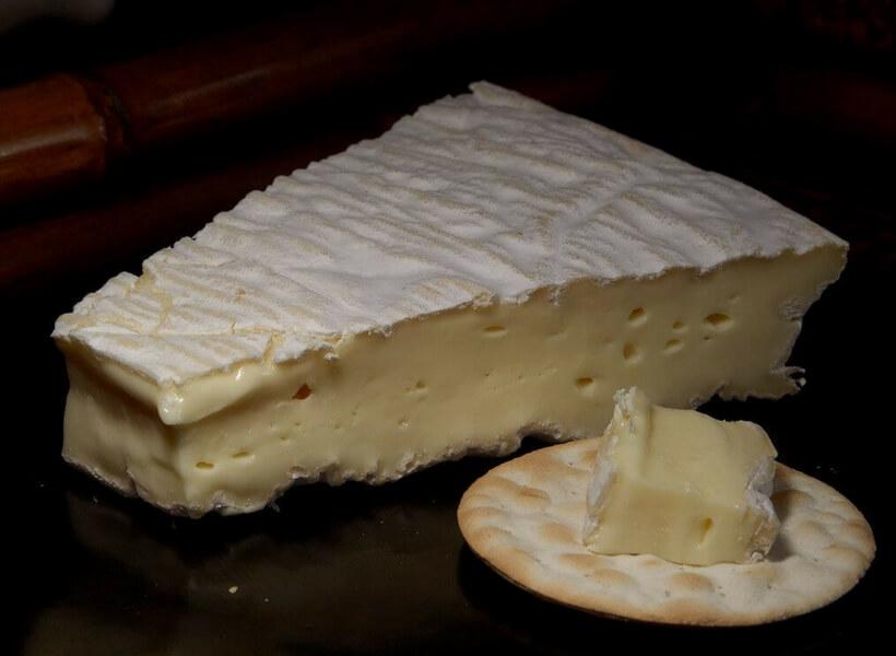 Brie de Meaux on a platter