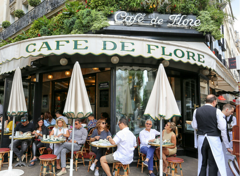 Café de Flore: vibe of paris neighborhoods