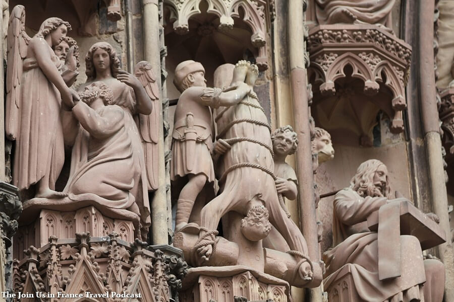 Detail outside of the Strasbourg Cathedral