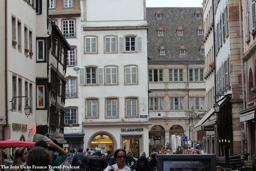 Pedestrian street in downtown Strasbourg