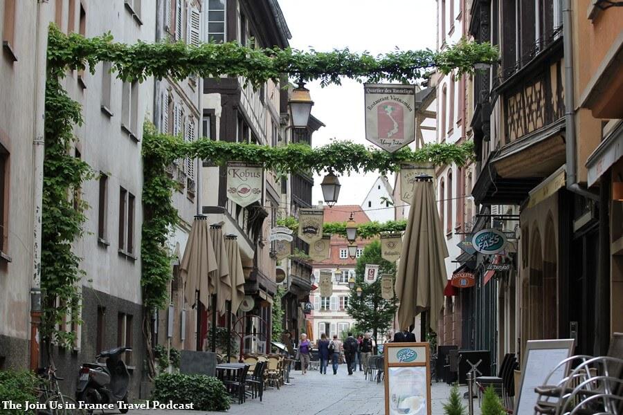 Downtown Strasbourg pedestrian street