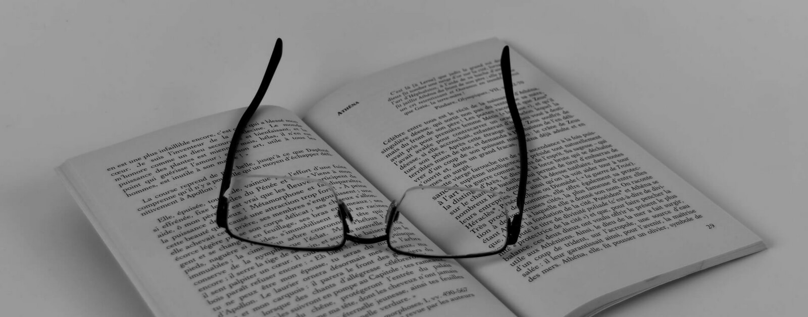 Book in French with reading glasses: French Culture Episodes