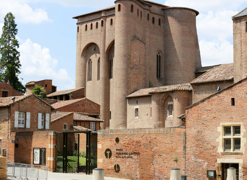 The old episcopal palace in Albi, now the Toulouse-Lautrec museum