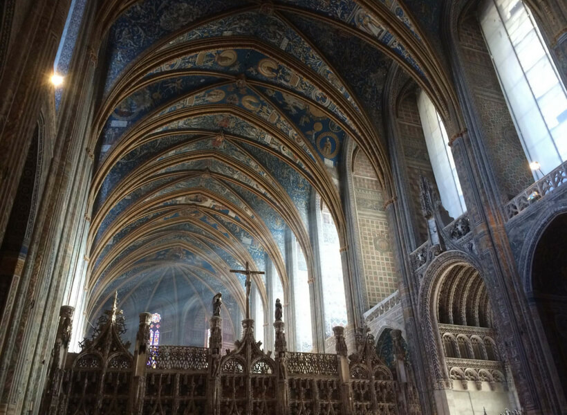 Inside the Albi Cathedral