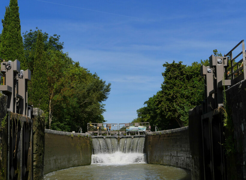 lock on the canal du midi