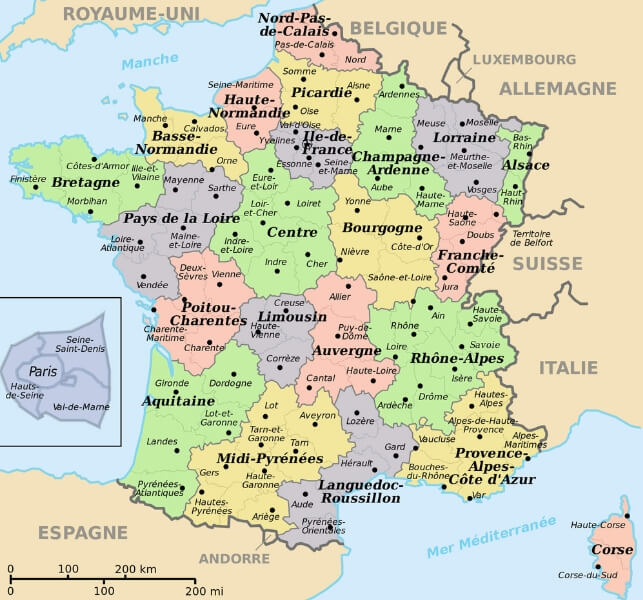 map that shows french departments