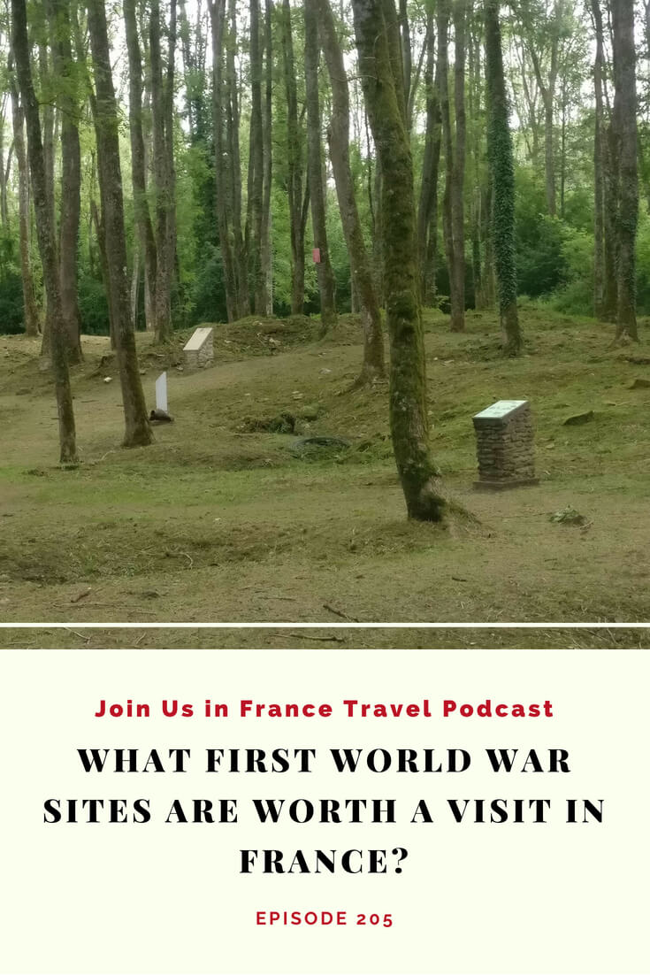 Looking to learn about WWI Battlefields in France? This is the Douamont Memorial near Verdun. WWI turned most of Europe into a giant battlefield. In this episode of the podcast we discover which WWI memorial sites are most interesting for visitors from the perspective a family who visited in 2018. #travel #podcast #france #WWI #Centennial