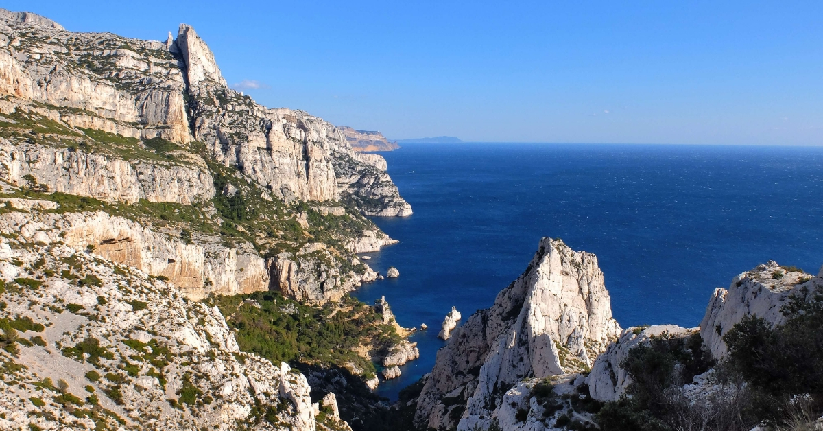 the view from the top of the Calanques near Cassis