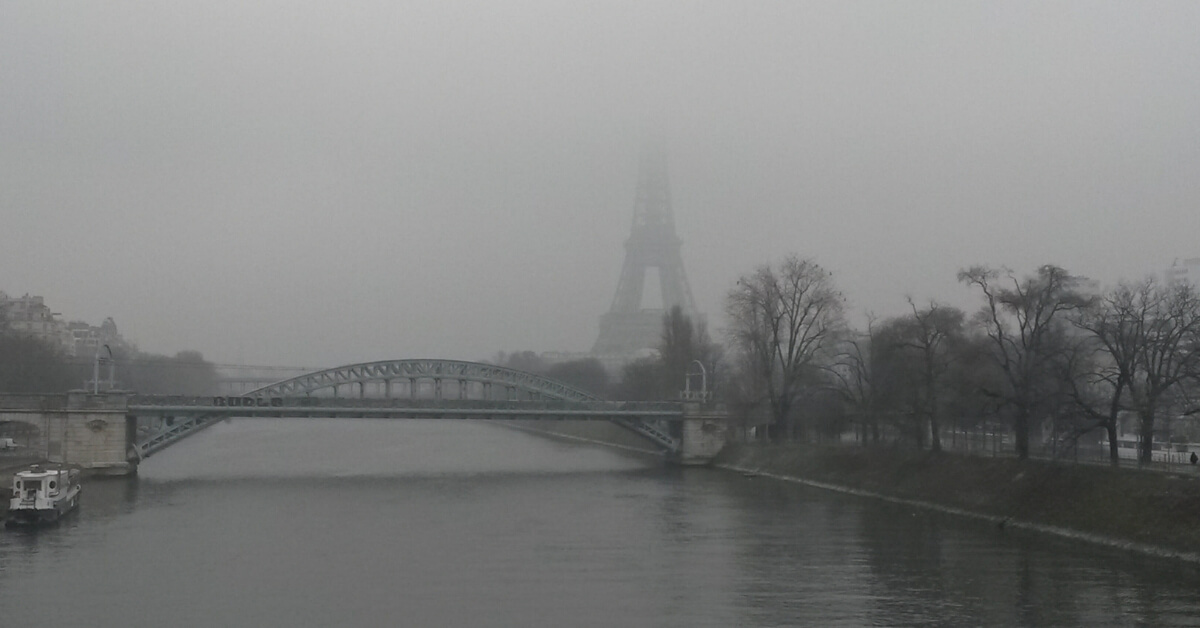 Paris on a foggy and dreary day: When people hate Paris Episode