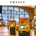 train ticket machines at the train station in Limoges, France