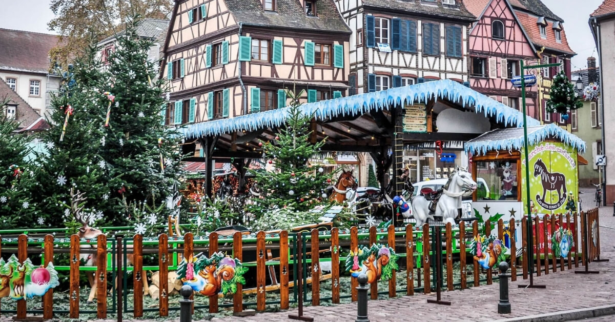 Christmas display in the Alsace region