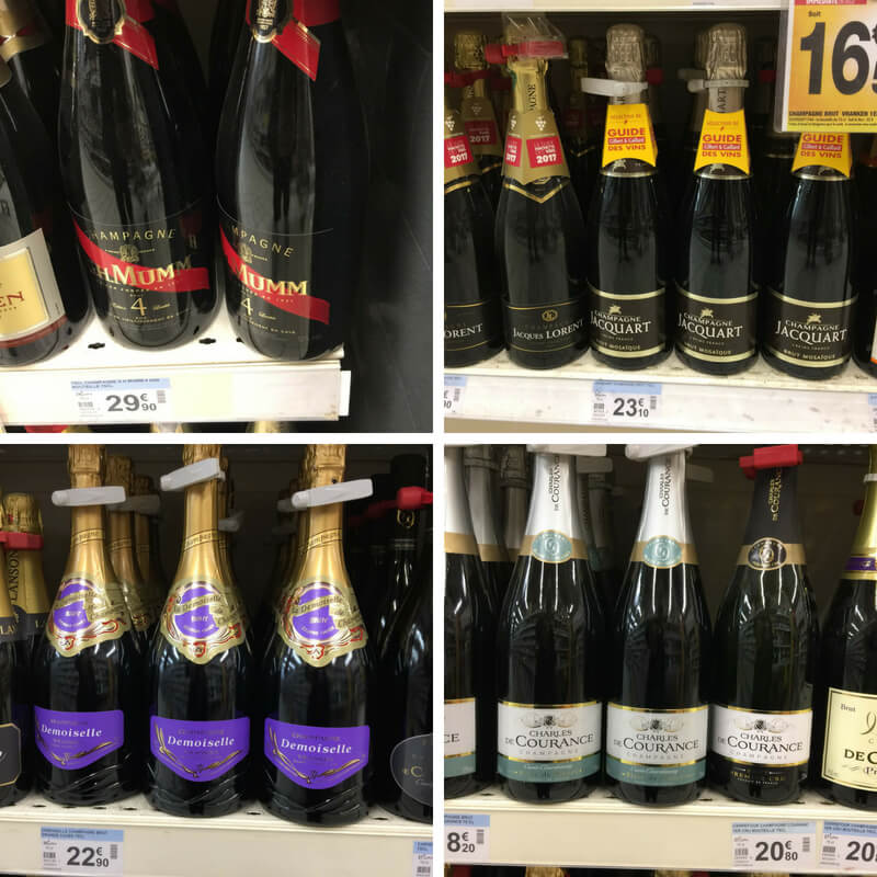 Mumm, Jacquart Demoiselle and Courance champagnes