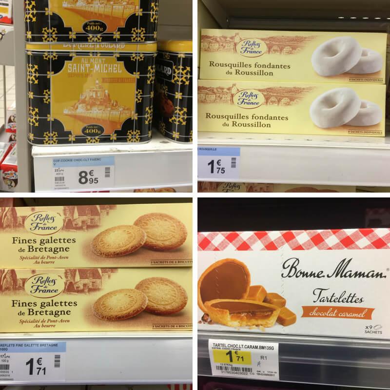 Mont Saint-Michel Cookies, rousquilles, galettes de Bretagne, tartelettes Bonne Maman