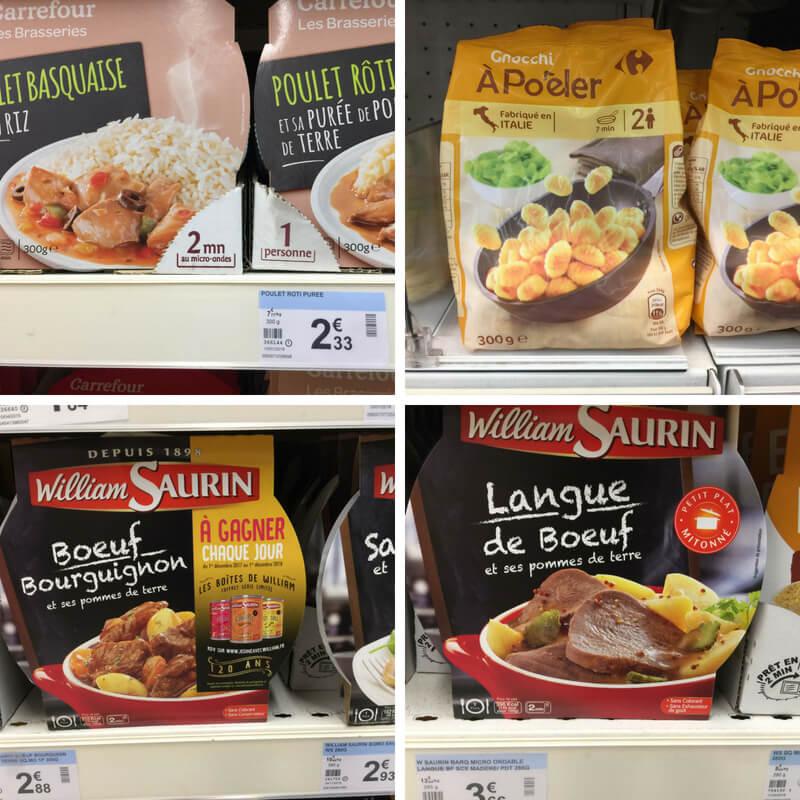 poulet basquaise, gnocci, boeuf bourgignon, langue de boeuf