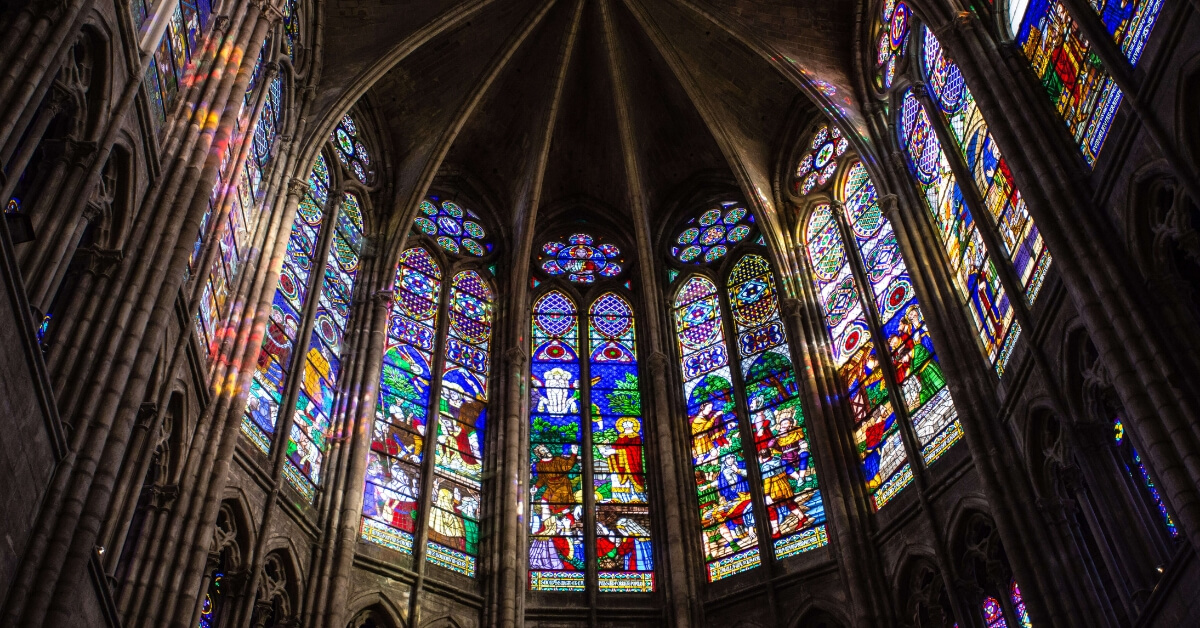 stained-glass at saint denis basilica