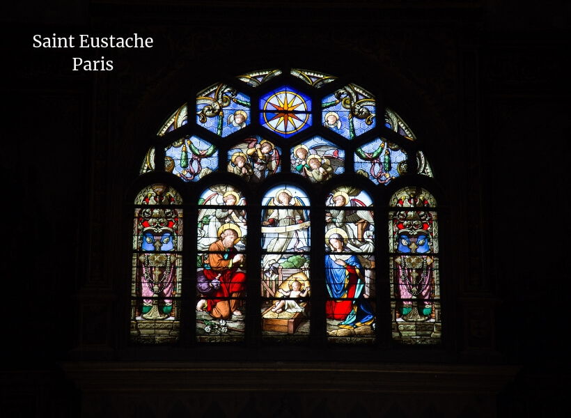 stained-glass at the Saint-Eustache in Paris near Les Halles