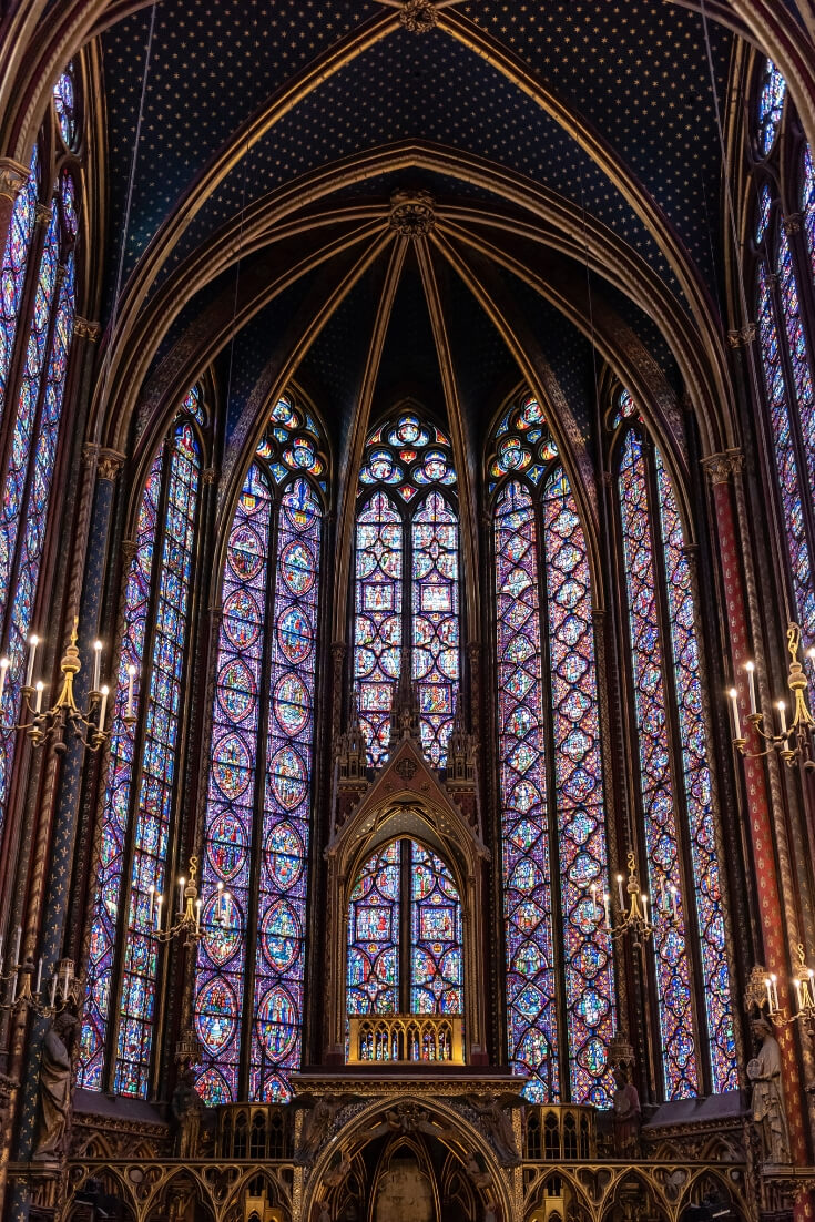 Stained Glass Window at the Sainte Chapelle. 4 days in Paris episode.