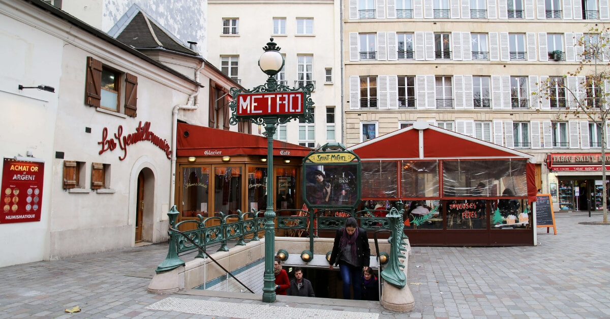 Cité métro station in central Paris: public transportation in france episode