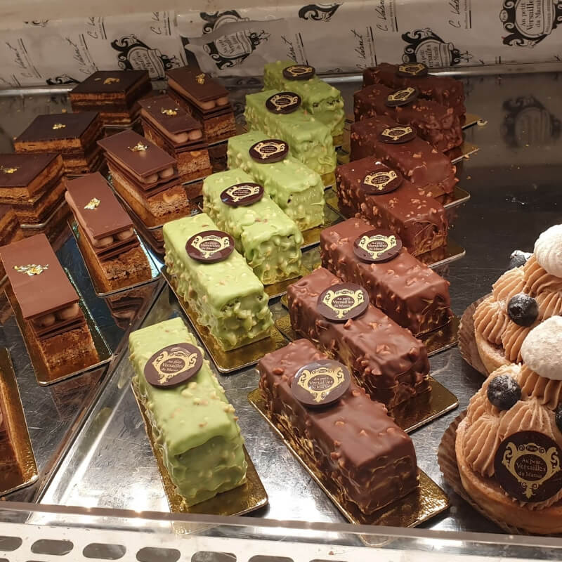 pastries at a bakery shop in Paris
