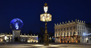 place stanislas in the city of nancy at night