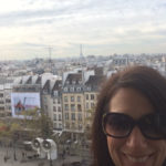 Corrie taking a selfie from the top of the Pompidou Center