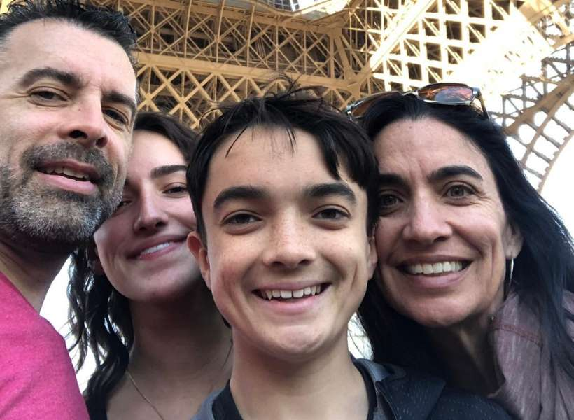 Janda family underneath the Eiffel Tower: visiting paris with teenagers episode