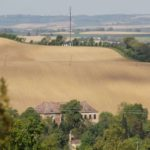 rolling coutryside with large wheat field: day-trip to the Gers from Toulouse episode