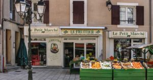 small stores in Maison-la-Romaine: Wine Touring and Cooking Classes in Provence episode