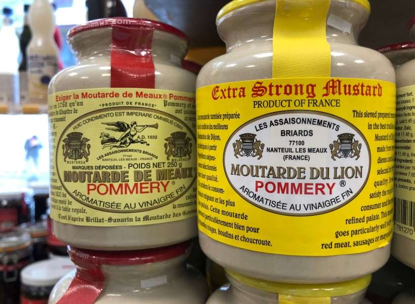 Speciatly mustards from G. Detou: one of the best kitchen supply stores in Paris