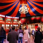 Visitors at the Musée des Arts Forains: multi-generational trip to Paris episode