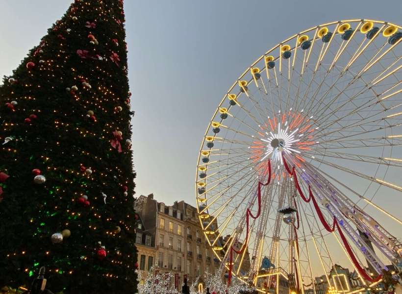 Giant Ferris Wheel at the Christmas Market in Lille