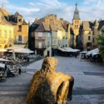 Market place in Sarlat: Dordogne and Aveyron episode