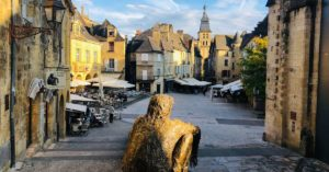 Market place in Sarlat: Dordogne and Aveyron episode