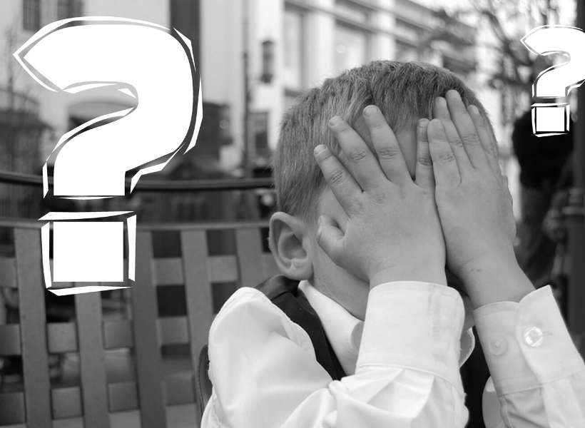 Boy hiding his face with his hands: 3 common mistakes tourists make in Paris episode
