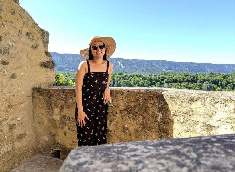 Denise on her honeymoon in Provence