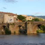 Photo of Limoux's bridge and Aude river