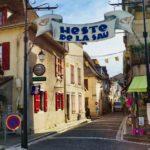 Pretty street in Salie de Béarn