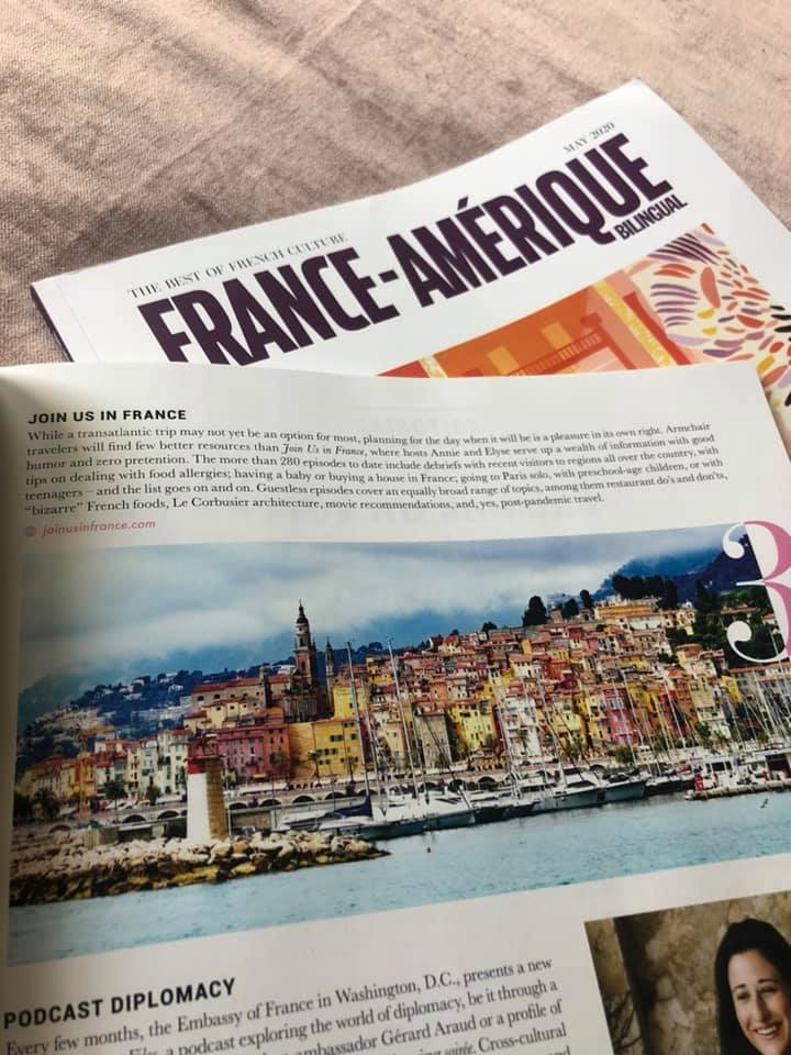 Article about Join Us in France in the France-Amérique magazine