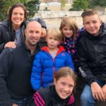 Cristina with husband and children: visiting D-Day sites with kids episode