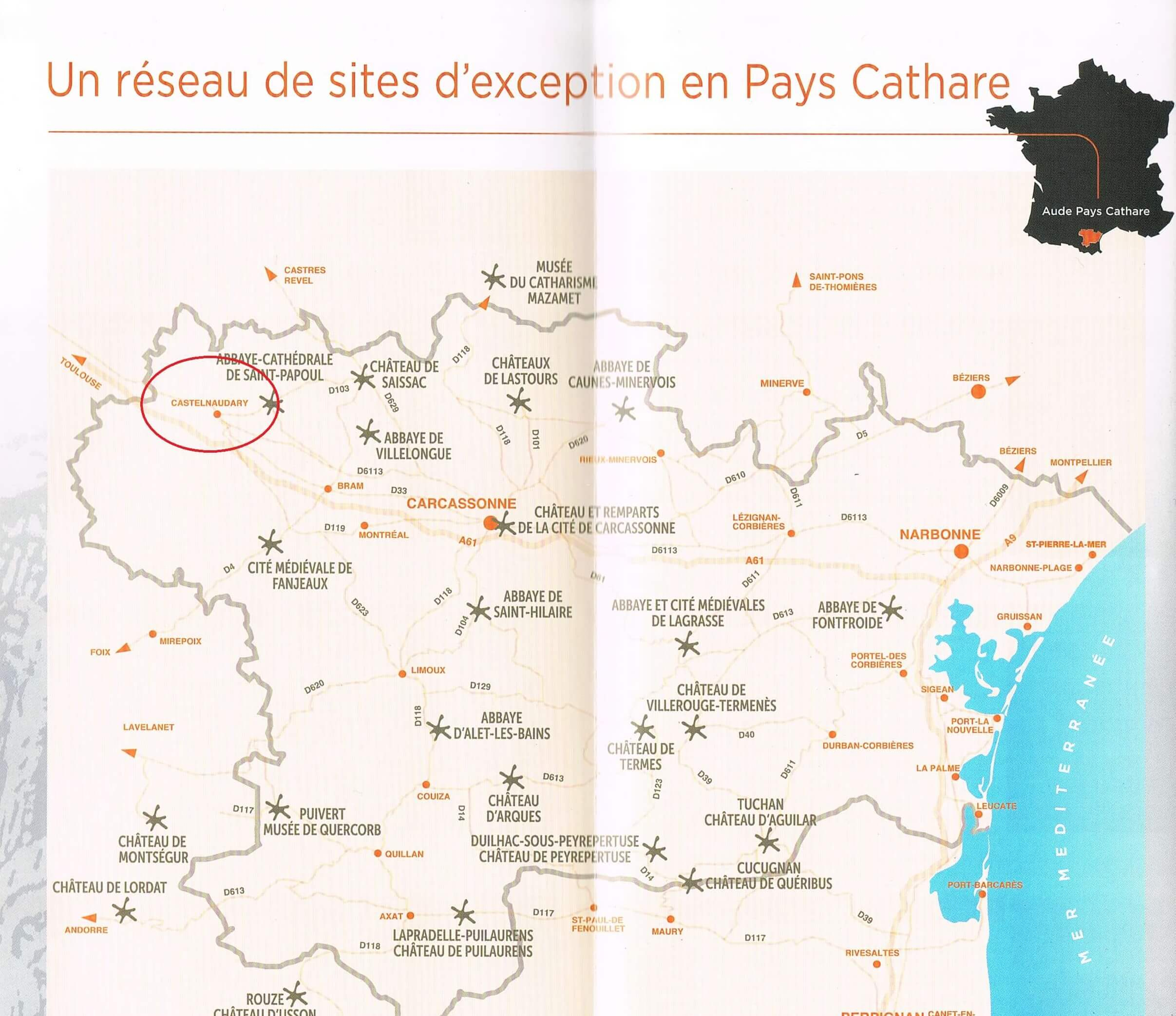 Cathar Country Map: Castelnaudary episode