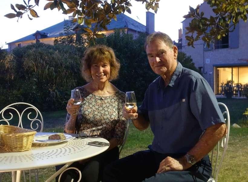 Carl and his wife Christine enjoying some Sancerre wine