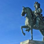 Statue of Lous XIV on a horse in Versailles: French Kings and the Catholic Church episode