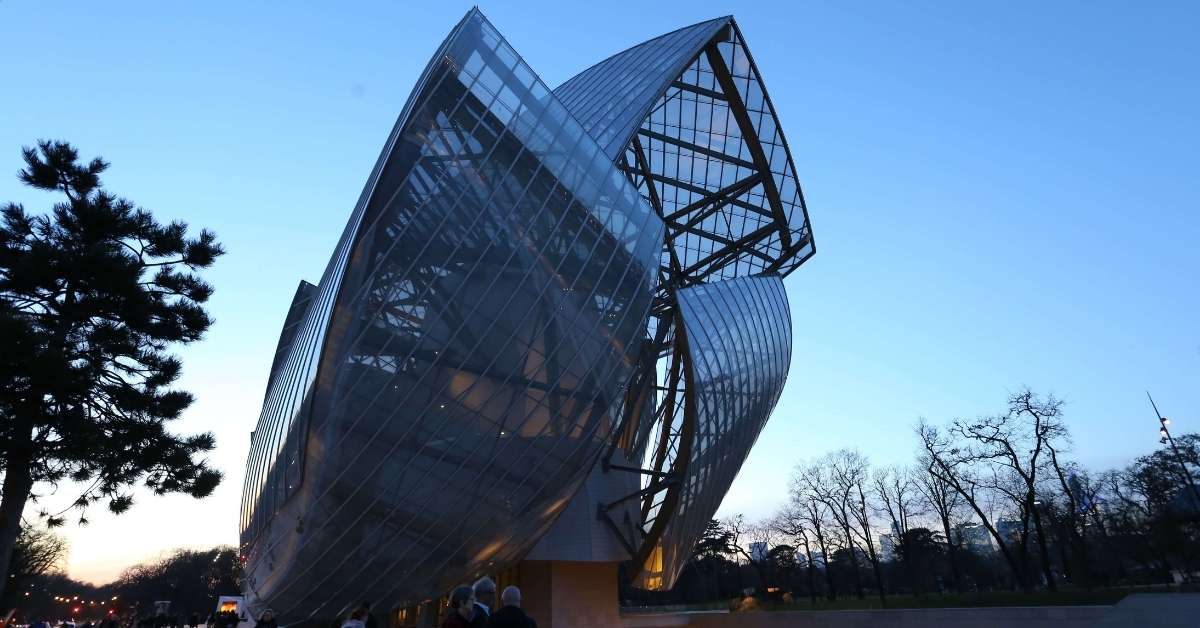 The Louis Vuitton Foundation building in Paris