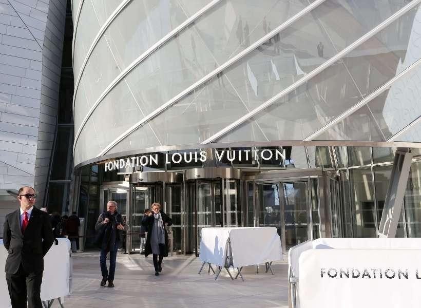 Entrance of the Louis Vuitton Foundation in Paris