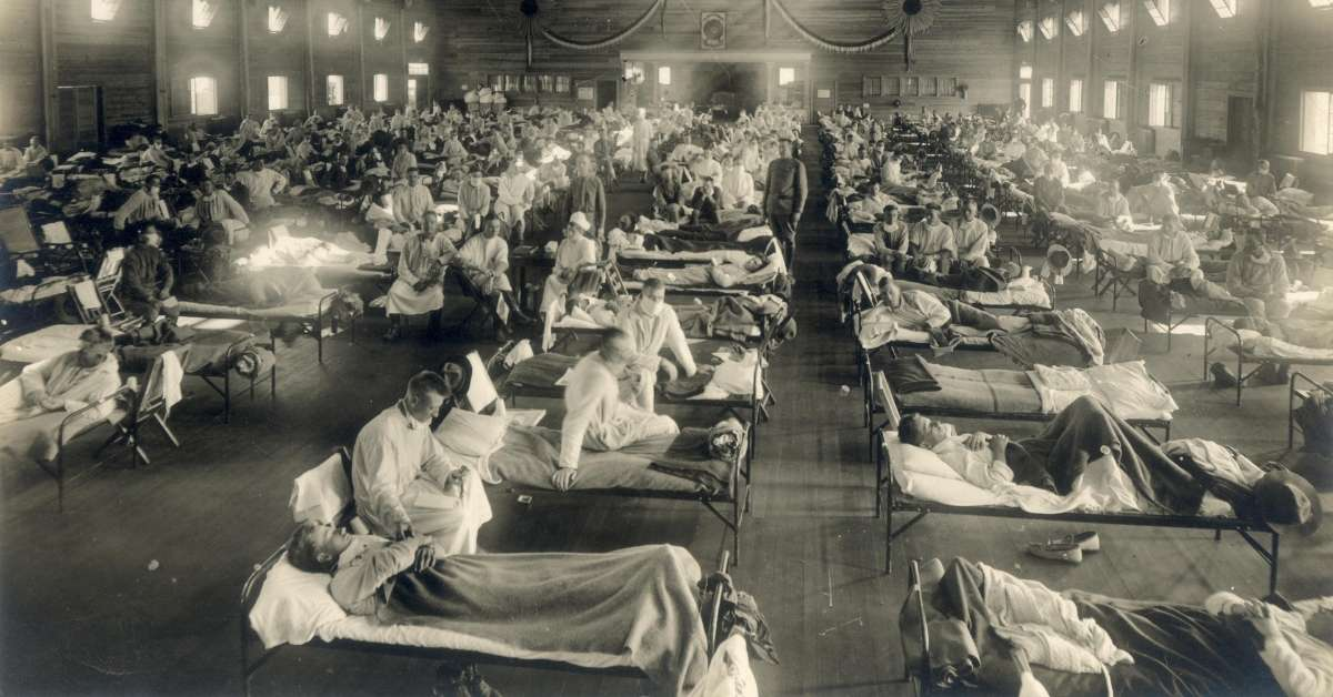 Camp Funston field hospital during the Spanish Flu